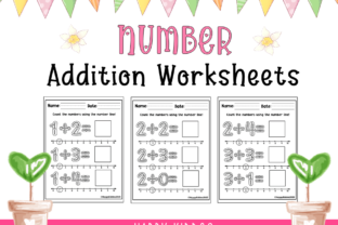 Number Addition Worksheets Graphic K By Happy Kiddos