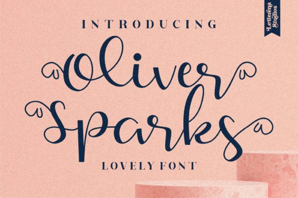Print on Demand: Oliver Sparks Script & Handwritten Font By letterenastudios