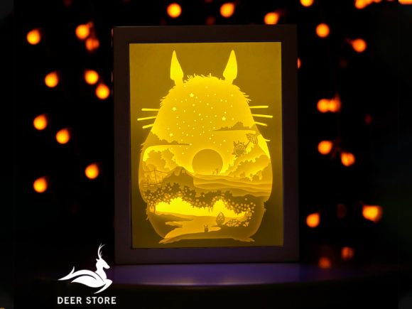 Paper Cut Light Box - 3D Shadow Box Graphic 3D Shadow Box By Deer store