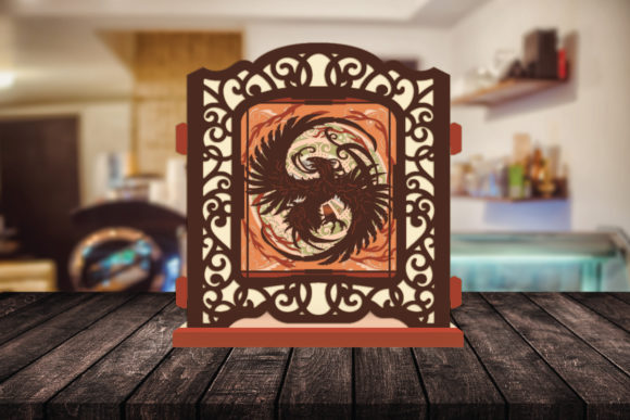 Print on Demand: Phoenix 3D Pop-up Light Box Gráfico Shadow Box en 3D Por LightBoxGoodMan