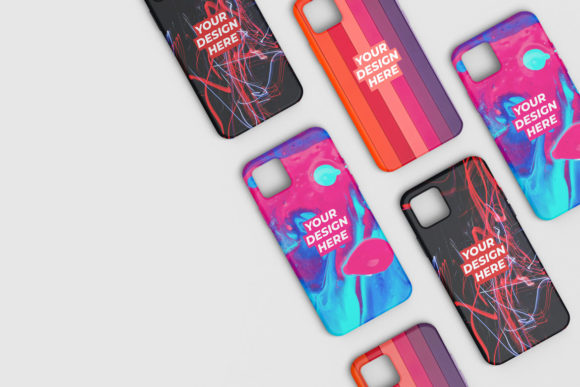 Phone Casing Mockup Scene 3 Graphic Product Mockups By erdpme