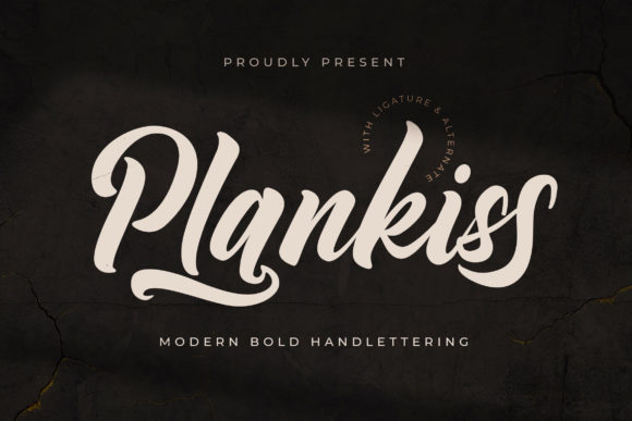 Print on Demand: Plankiss Script & Handwritten Font By fontherapy