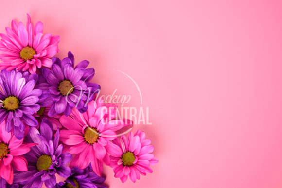 Pretty Pink Floral Flower Background Graphic Nature By Mockup Central
