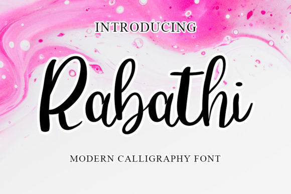 Print on Demand: Rabathi Script & Handwritten Font By mizanstudio