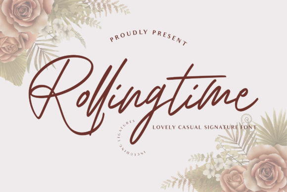 Print on Demand: Rolling Time Script & Handwritten Font By fontherapy
