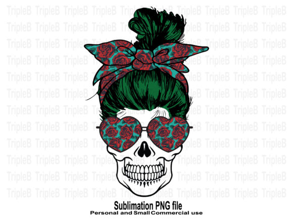 Print on Demand: Skull Funny Valentine's Roses Red Design Graphic Crafts By TripleBcraft