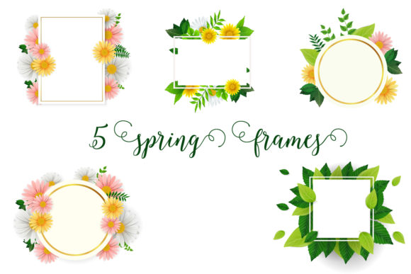 Spring Frames Floral Vector Collection Graphic Download