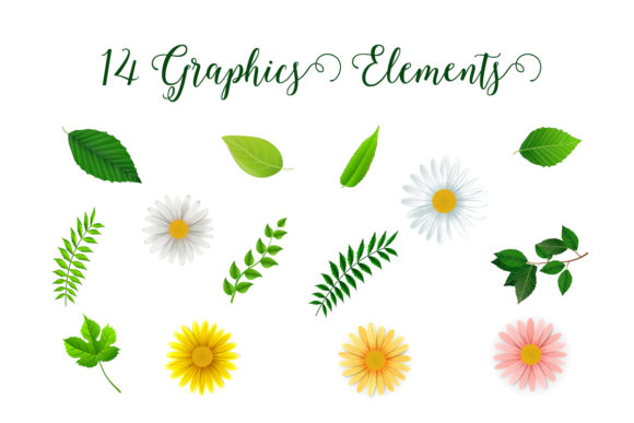 Spring Frames Floral Vector Collection Graphic Item