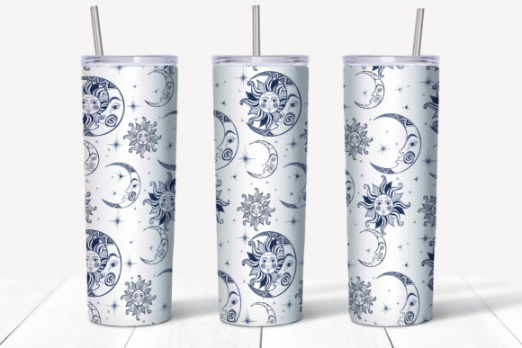 Starry Sky Design. Skinny Tumbler Wrap Graphic Item