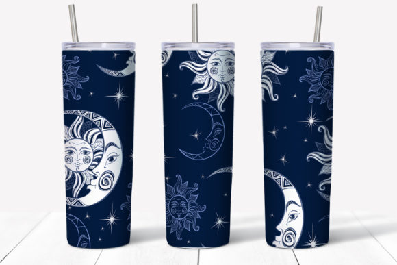 Starry Sky Design. Skinny Tumbler Wrap Graphic Design