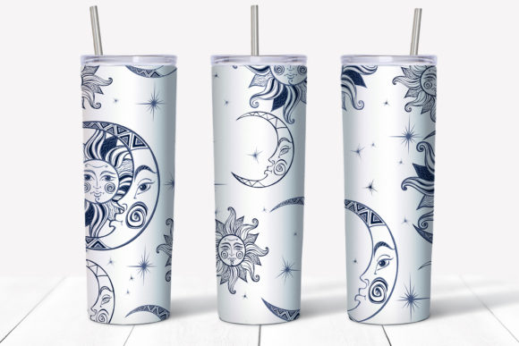 Starry Sky Design. Skinny Tumbler Wrap Graphic Preview