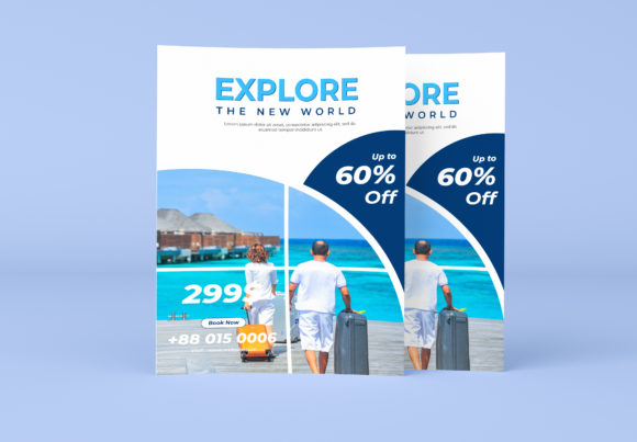 Tour & Travel Agency Flyer Template Graphic Print Templates By GraphicHut