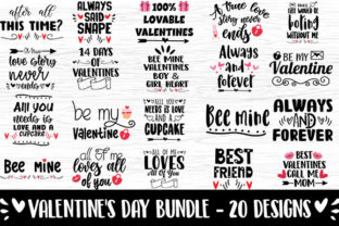 Print on Demand: Valentine Bundle 20 Quote & Sayings Graphic Print Templates By svg.in.design