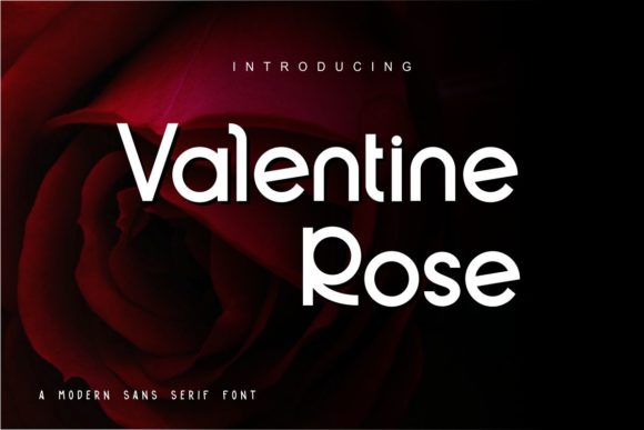 Print on Demand: Valentine Rose Sans Serif Font By Pidco.art