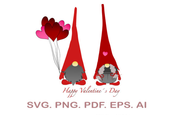Valentine's Gnomes SVG Graphic Crafts By NarCreativeDesign