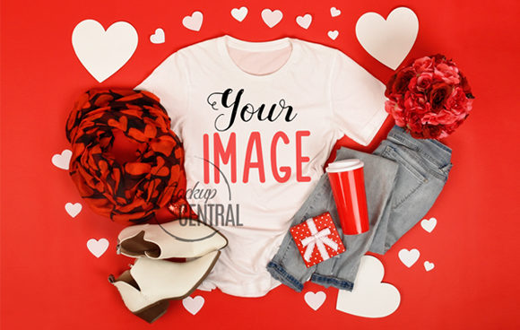 Valentine's Shirt Women's T-Shirt Mockup Graphic Product Mockups By Mockup Central