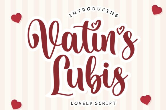 Print on Demand: Vatin's Lubis Script & Handwritten Font By HansCo