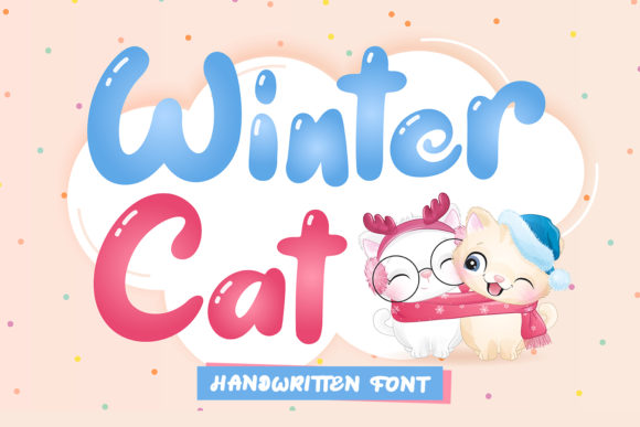 Print on Demand: Winter Cat Display Font By Naharstd