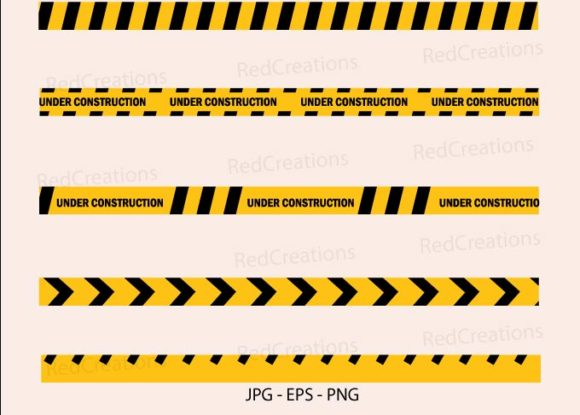 Caution Yellow Tape Construct Warning Graphic Illustrations By RedCreations