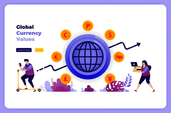 Print on Demand: Global Currency Transactions Exchanges Graphic Illustrations By setiawanarief111