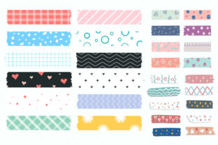 Print on Demand: Washi Tape Clipart Graphic Illustrations By Zweed n roll Clipart