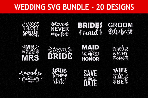 Print on Demand: Wedding 36 Quotes Designs Bundle Graphic Print Templates By Mou_graphics