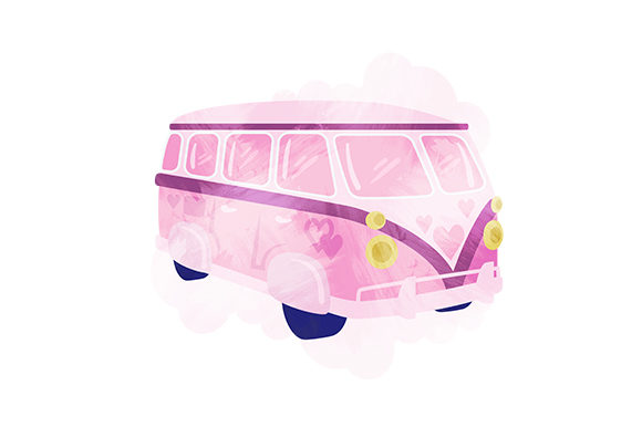 Vintage Camper Van Valentine's Day Craft Cut File By Creative Fabrica Crafts