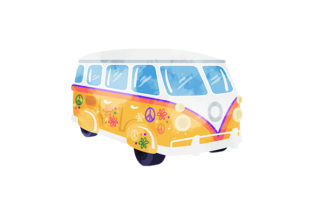 Hippy Camper Van Cars Craft Cut File By Creative Fabrica Crafts