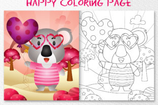 A Cute Koala - Coloring Pages Graphic Coloring Pages & Books Kids By wijayariko