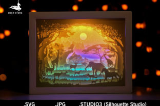 African Paper Cut Light Box Template 3D Graphic 3D Shadow Box By Deer store