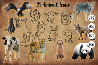 Print on Demand: Animal Hand Drawn Icons SVG Files Graphic Icons By Tosca Digital