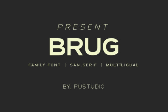 Print on Demand: Brug Sans Serif Font By pustudio