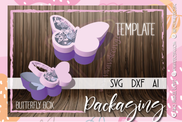 Print on Demand: Butterfly Box Graphic 3D SVG By Marcel de Cisneros