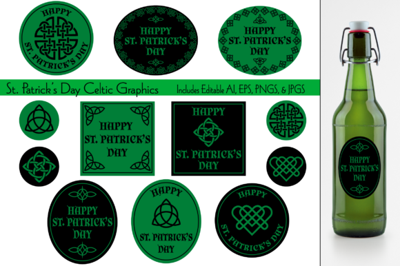 Celtic Saint Patrick's Day Graphics Graphic Illustrations By Melissa Held Designs