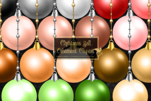 Print on Demand: Christmas Ball Ornaments Clipart Graphic Illustrations By Digital Curio