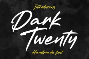 Print on Demand: Dark Twenty Script & Handwritten Font By AbasCreative