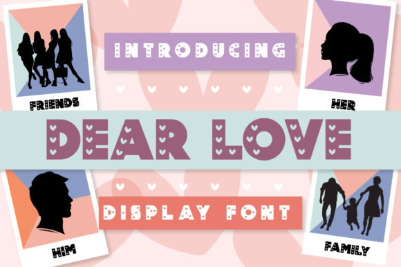 Print on Demand: Dear Love Display Fuente Por Caoca Studio
