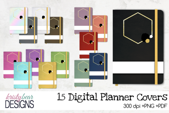 Digital Planner Covers Graphic Objects By kristybear DESIGNS