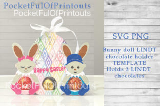 Easter Bunny Dolls Template Graphic 3D SVG By PocketFulOfPrintouts