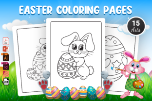 Easter Coloring Pages - KDP Interior Graphic Coloring Pages & Books Kids By Moon