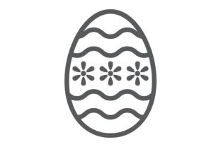 Easter Egg Line Icon Graphic Icons By Fox Design