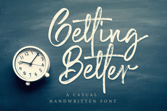 Print on Demand: Getting Better Script & Handwritten Font By alpapranastudio