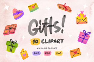 Gifts Clipart Illustrations Graphic Illustrations By Nurmiftah