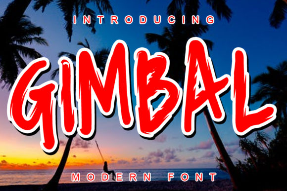 Print on Demand: Gimbal Display Font By ABBAsalam