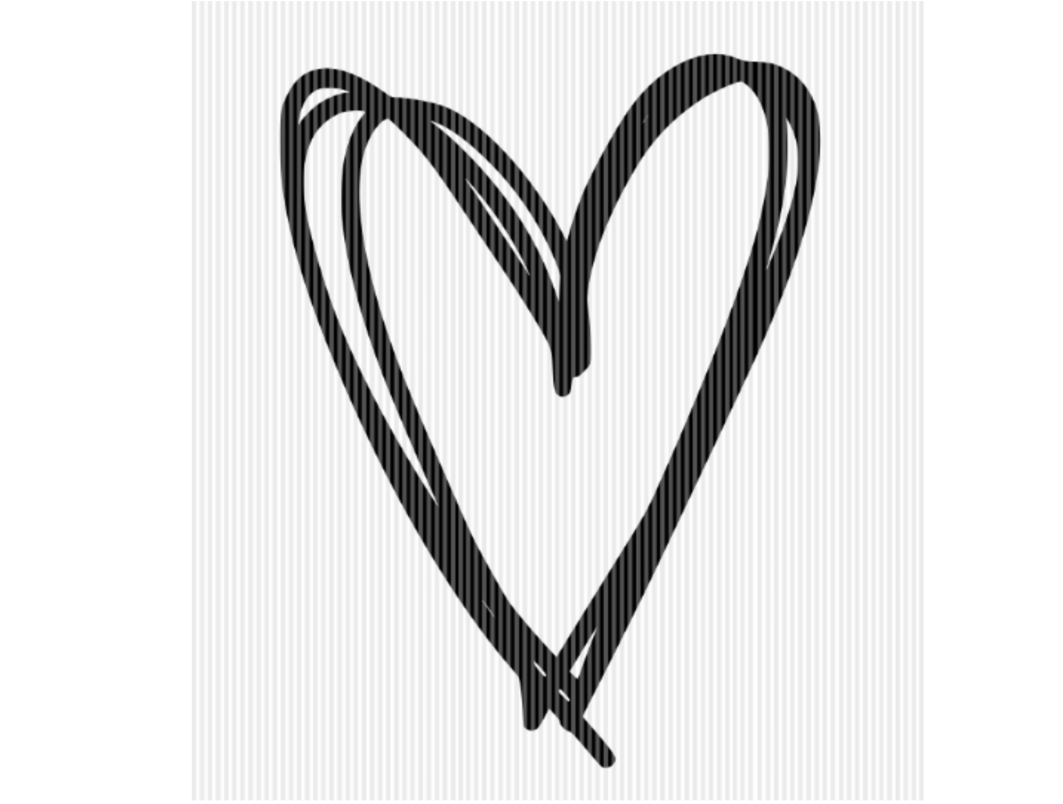 Hand Drawn Heart Hand Lettered Heart SVG File