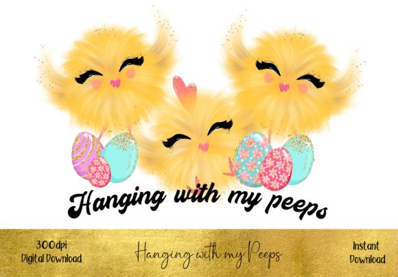 Hanging with My Peeps Sublimation Design Graphic Illustrations By STBB