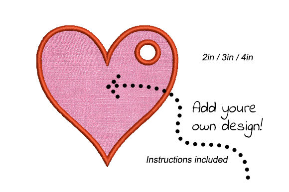 Print on Demand: Heart Template Valentine's Day Embroidery Design By EmbArt