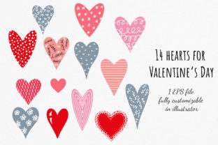 Hearts Vector Clipart Graphic Illustrations By RedDotsHouse