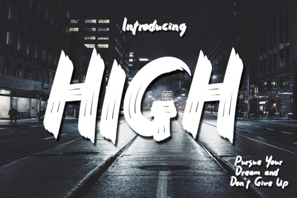 Print on Demand: High Script & Handwritten Font By Eddygoodboy