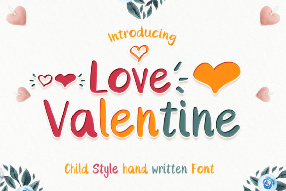 Print on Demand: Love Valentine Script & Handwritten Font By numnim